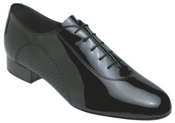 ab1a6813cb383 The Features 5200 Wide Fitting Men s Ballroom Supaflex Shoe in Black Patent  Leather -