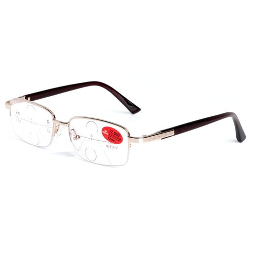 LianSan Progressive Multifocal Reading Glasses Vision Resin Lenses Upscale Quality Satin Anti-Fatigue Adjustment 100 °