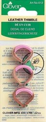 Clover Leather Thimbles Adjustable 3/Pkg; 3 Items/Order