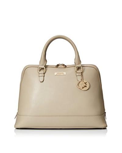 Versace Collection Women's Leather Satchel, Sabbia/Oro Chiaro