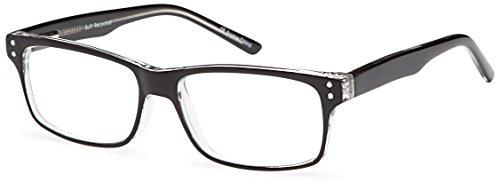 DALIX Mens Model Studious Wayfarer Glasses Frames 50-15-135 (Black)