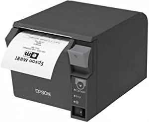 Epson C31CD38024A0 - TM-T70II, USB, Ethernet - dark grey, 180dpi - incl.: power supply unit, power cable (EU), order separately: interface cable