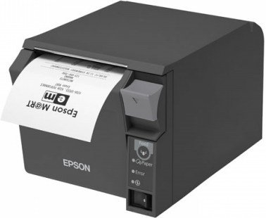 Thermal  monochrome receipt printer with Ethernet and USB interface, external power supply and auto cutter