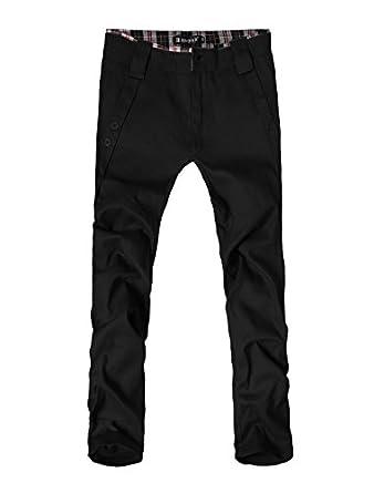 Trendy Mens Pants Casual Zip UpPants Straight Trousers