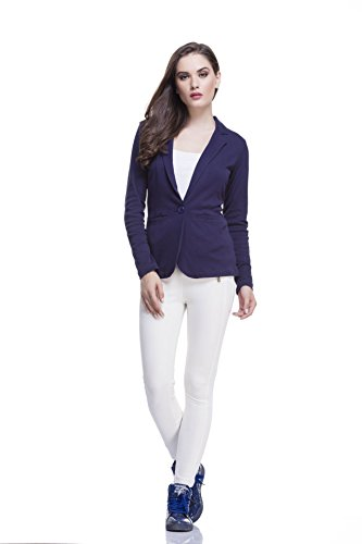 Femella Women's Blazer (DS-1446473-829_Navy Blue_XX-Large)