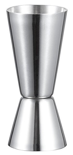 Visol Narrowed Josset Stainless Steel Double Jigger, Silver (Double Sided Shot Glass compare prices)