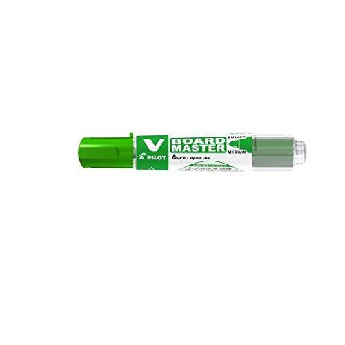 PILOT Lot de 12 Marqueurs tableau blanc V-Board Master, pointe ogive, rechargeable , vert
