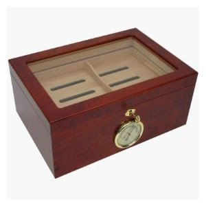 Mantello 100 Cigar Desktop Humidor Glasstop