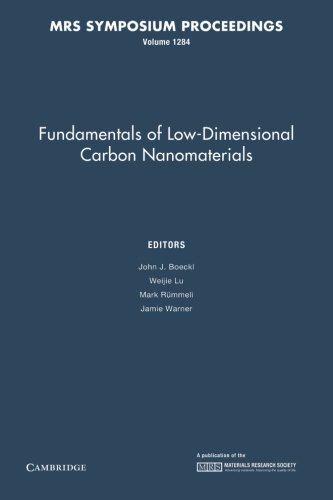Fundamentals Of Low-Dimensional Carbon Nanomaterials: Volume 1284 (Mrs Proceedings)