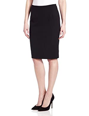 Calvin Klein Women's Lux Stretch Pencil Skirt,Black,12
