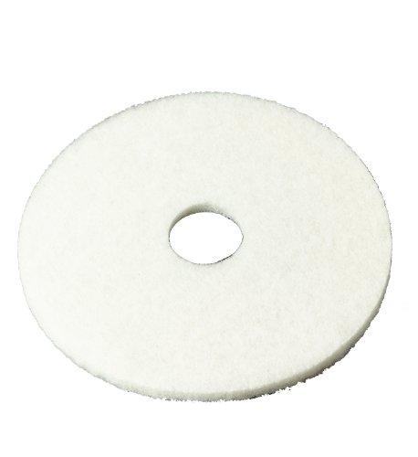 "3M White Super Polish Pad 4100, 12"" Floor Pad, Machine Use (Case Of 5) front-577202"