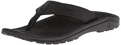 Mens Ohana Sandals - 8 - BLACK / BLACK