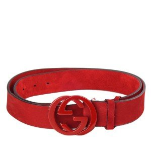 Red Suede Gucci Mens Belt