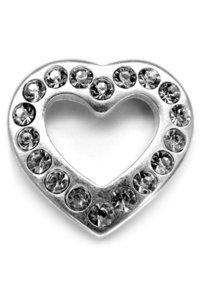 DIAMOND HEART 925 esclusivo ciondolo a forma di cuore con 18 Swarovski's, 31 x 30 mm, in argento Sterling 925 Perfezionamento