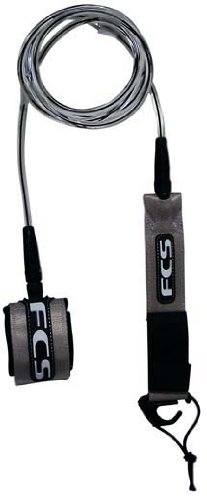 FCS Competition Weight 6' Surfboard Leash Clear/Black Coxial