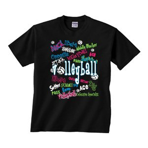 Buy Volleyball - Graffiti - Short Sleeve T-shirt by Image Sport