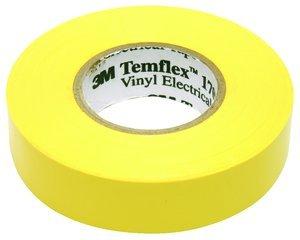 "10 Pack 3M Temflex 1700C Yellow 3/4"" X 66' General Use Vinyl Electrical Tape"