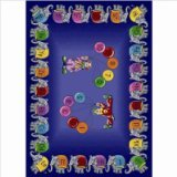 "Joy Carpets Kid Essentials Early Childhood Circus Elephant Parade Rug, Multicolored, 3'10"" x 5'4"""
