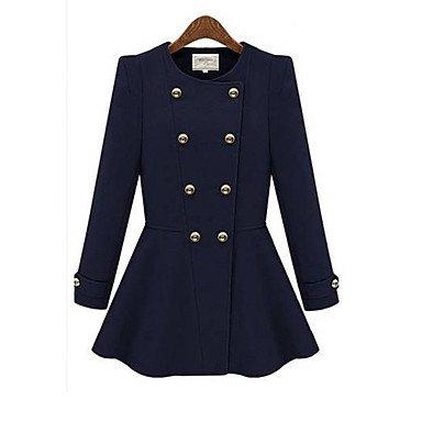 GA&GA nuovo cappotto di lana doppio petto occidentale delle donne Zyp , cream , xl