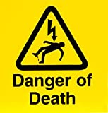 Electrical Self Adhesive Warning Signs Danger of Death 10 Pack