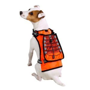 Dog Orange Safety Vest with Drink Holder Size Large (Dog Beer Holder compare prices)