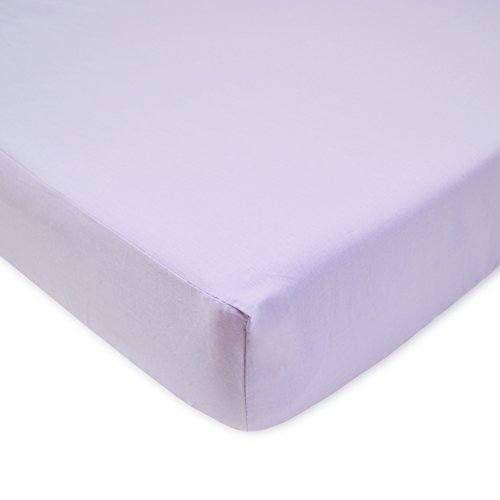 American Baby Company 100% Cotton Percale Fitted Crib Sheet, Lavender (Lavender Crib Sheet compare prices)