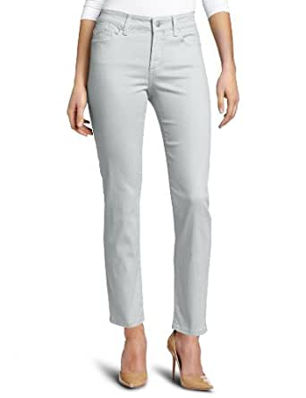 NYDJ Women's Petite Alisha Ankle Jeans Colored Denim, Moonstone, 0P