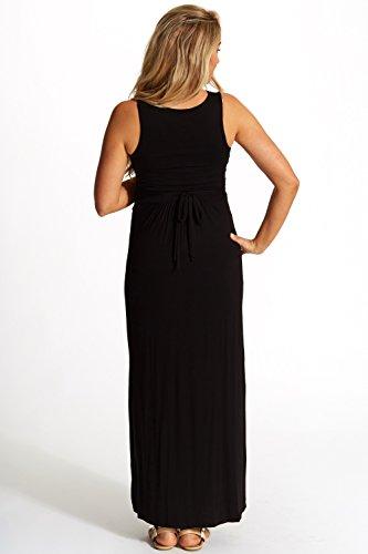 PinkBlush Maternity Black Maternity/Nursing Maxi Dress