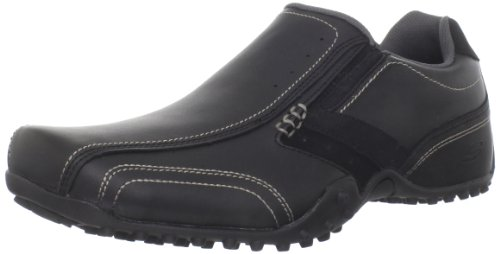 Skechers Men's Urbantracks Cowens Slip-on,Black,8 M US