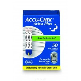 ACCU-CHECK® Aviva Plus Test Strips-NA – Box of 50