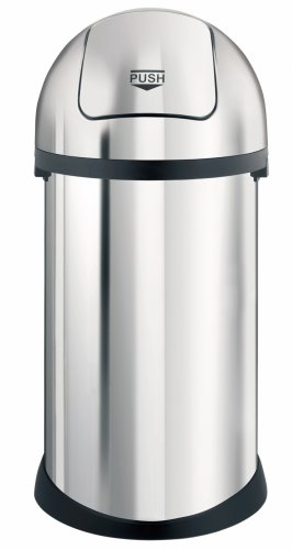 Brabantia Push Bin, 50 Litre, Brilliant Steel