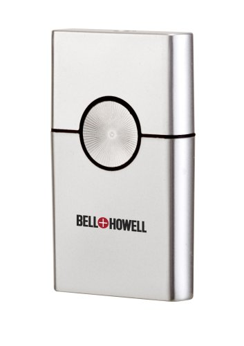 Bell+Howell Ultra-Thin Travel Dry Battery Shaver, Silver Tone