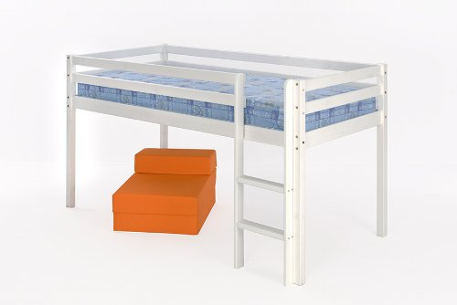 3ft (90cm) Mid Sleeper Bunk with White Finish