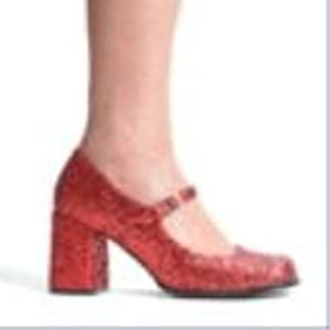 """3"""" Heel Mary Jane Glitter Shoes. by Ellie(REDG,6)"""