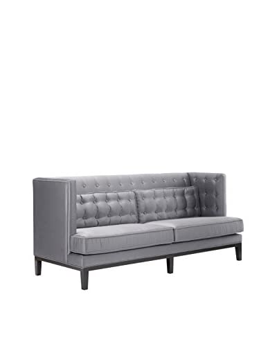 Armen Living Noho Sofa, Silver As You See