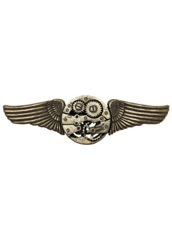 Elope Unisex Adult Gear Wings Antique Adult Pin Copper One-size