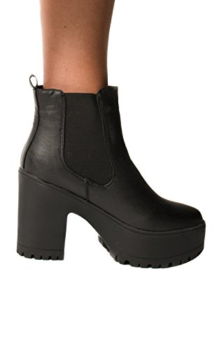 Women's Ladies Faux Leather Ankle Classic Glam Chelsea Boots