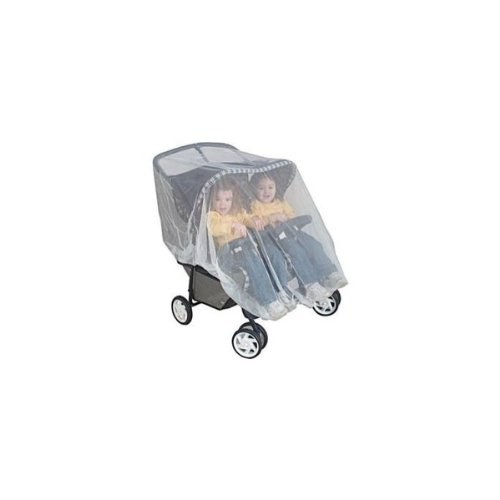 Mosquito Nets 4 U -Mosquito Net for Twin or Tandem Buggy Pushchair FREE Travel Net Bag