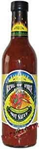 Hot Sauce Depot 60181025 Ring Of Fire Red Pepper Roasted Garlic Hot Sauce 125oz - Pack Of 3 by Hot Sauce Depot