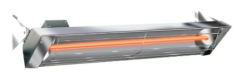 120 Vt 33 Electric Infrared Patio Heater Stainless Steel W1512ss