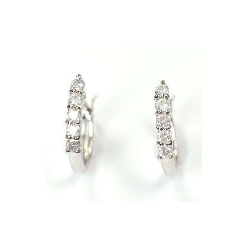 [キュートジュエリー]Cute jewerly ダイヤモンドピアス プラチナ ダイヤ0.2ct エタニティーピアス