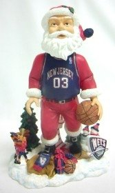 New Jersey Nets Santa Forever Collectibles Bobble Head by Hall of Fame Memorabilia
