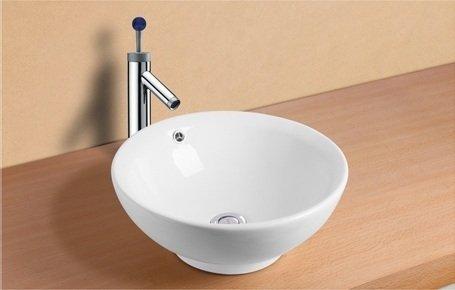 Mebasa mybaw02 urbino aufsatzwaschtisch aufsatzwaschbecken for Keramikspülbecken