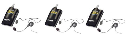 Simultalk 24G Alpine Wireless System: 3 Stations With 3 Cyber Headsets - Hands Free Communication For Skiers, And All Alpine Sports