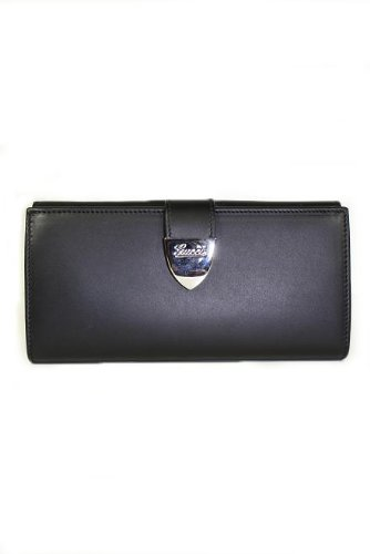 Gucci Wallets Black Leather Women 231837