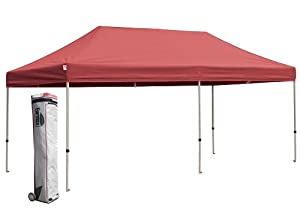 Eurmax 10 X 20 Easy Pop up Canopy Carport Wedding Party Tent with Roller Bag by Eurmax