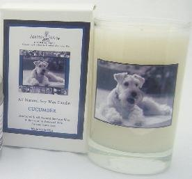 Aroma Paws 224 - Breed Candle Glass Gift Box - Mini Schnauzer - Cucumber - 5 Oz
