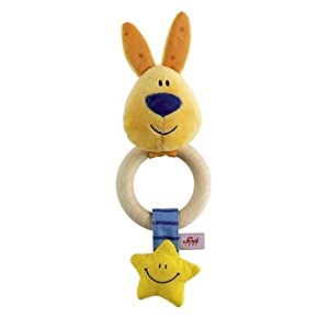 Sevi Wood Teething Ring Rattle Rabbit