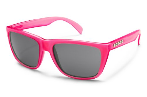 Suncloud Standby Polarized Sunglasses In Electric Pink & Grey Lens
