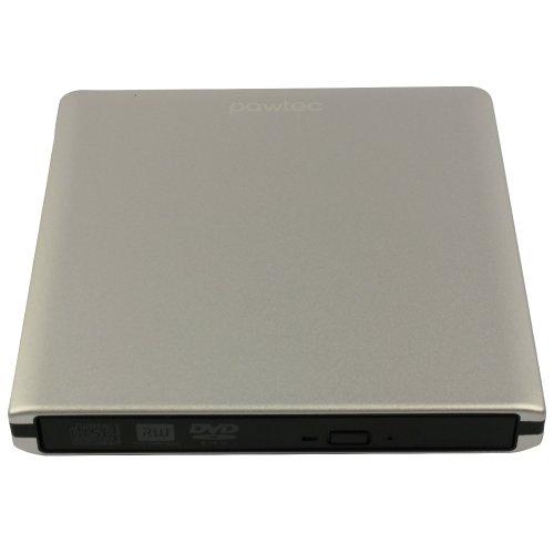 Pawtec External Usb 3.0 Aluminum 8X Dvd-Rw Writer Optical Drive For Apple Macbook Imac Mac Mini & Pc (Silver)